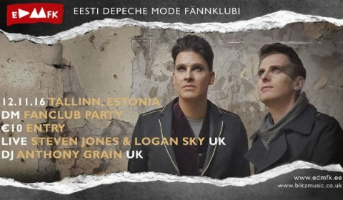 Flyer for the Depeche Mode Convention Estonia November 2016